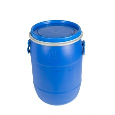 50L Recon Blue HDPE Open Top Drums
