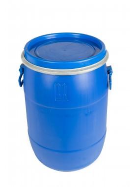 50L Recon Blue HDPE Open Top Drums