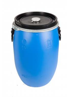 60L Recon Blue HDPE Open Top Drums