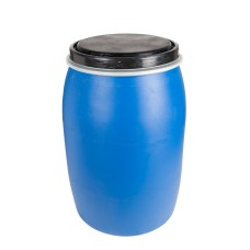 120L Recon HDPE Open Top Drums (Blue)
