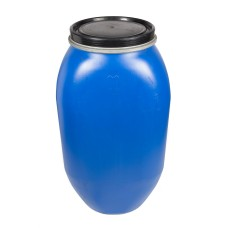 135L Recon Blue HDPE Open Top Drums