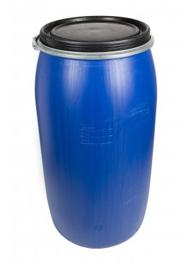 150L Recon Blue HDPE Open Top Drums