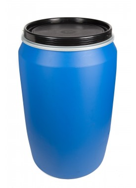 220L Blue HDPE Open Top Drums